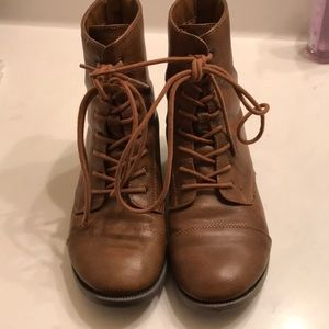 Other - Target lace up boots W/Zipper